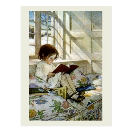 """Books in Winter"" Postcard"