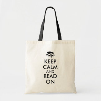 Books Keep Calm and Read On Book Bag Template