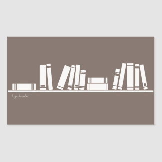 Books lovers! rectangular sticker