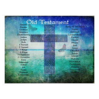Books of the Bible from the OLD Testament listed Poster