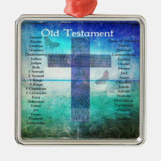 Books of the Bible Listed OLD Testament Christmas Ornament