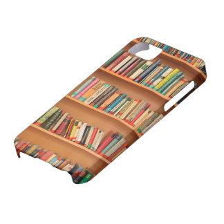 Books on Bookshelf Background iPhone 5 Covers