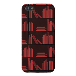 Books on Shelf. Dark Red. iPhone 5/5S Cases