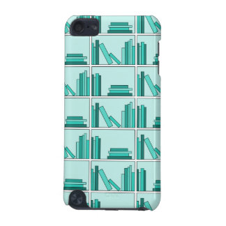 Books on Shelf. Design in Teal and Aqua. iPod Touch 5G Case