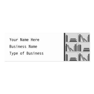 Books on Shelf Monochrome Business Card Template