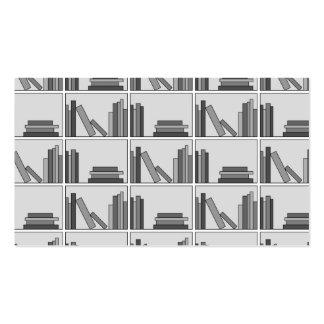 Books on Shelf Monochrome Business Card Templates