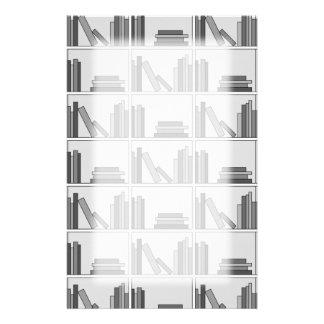 Books on Shelf. Monochrome. Stationery