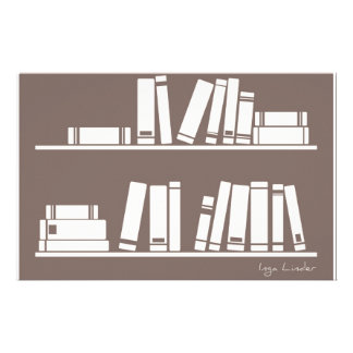 Books on the shelf for reading lover or wise guy customised stationery
