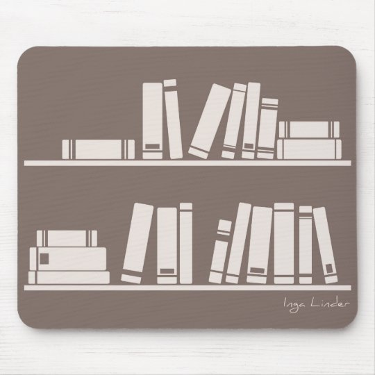 Books on the shelf for reading lover or wise guy mouse mat