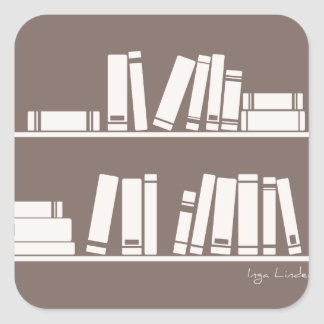Books on the shelf for reading lover or wise guy sticker