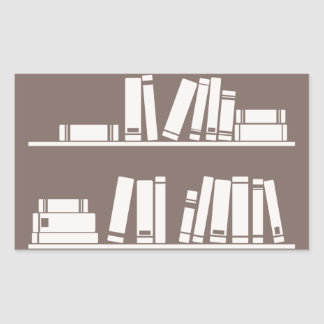 Books on the shelf for reading lover or wise guy stickers