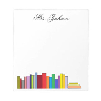 """""""Books"""" Personalized Notepad"""