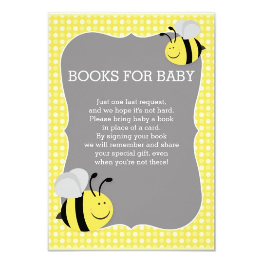 Books Request Mummy to Bee Baby Shower Card