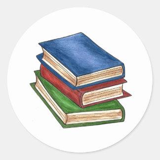 Books Round Sticker