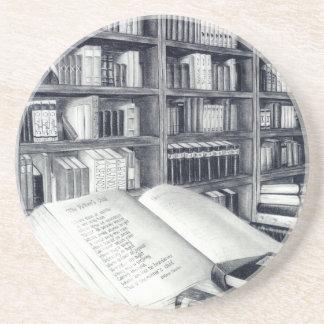 Books Sandstone Coaster