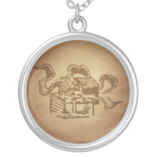 Books Scholarship Chinese Round Pendant Necklace