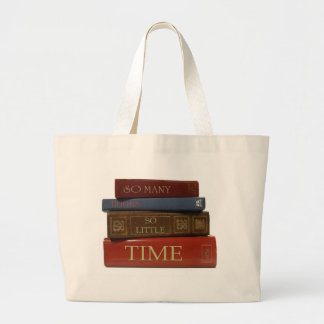 BOOKS So Many Books So Little Time Large Tote Bag
