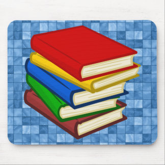 BOOKS STACKED MOUSE PAD