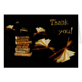 Books take you places, Thank  you! Card