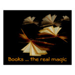 Books... the real magic poster