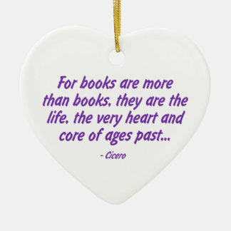 Books: the Very Heart and Core of Ages Past Ceramic Heart Decoration