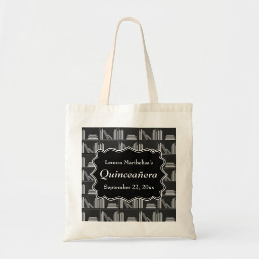 Books Theme Quinceanera Tote Bags