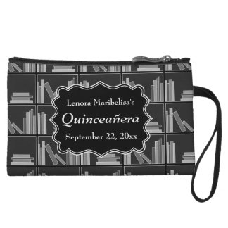 Books Theme Quinceanera Wristlet Clutch