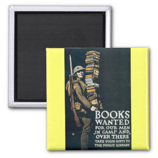 Books Wanted for Our Men Fridge Magnet