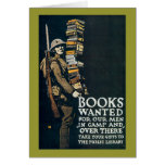 Books Wanted for Our Men Greeting Card