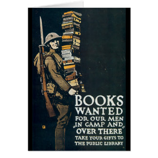Books Wanted World War II Greeting Card