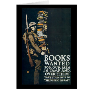 Books Wanted World War II Stationery Note Card