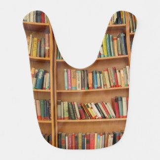 Bookshelf background bibs