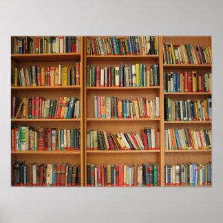 Bookshelf background posters