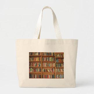 Bookshelf background tote bag