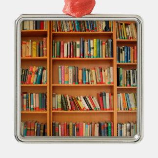 Bookshelf Books Library Bookworm Reading Christmas Ornament