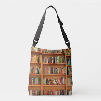 Bookshelf Books Library Bookworm Reading Crossbody Bag