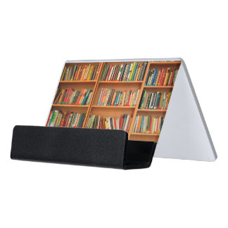 Bookshelf Books Library Bookworm Reading Desk Business Card Holder