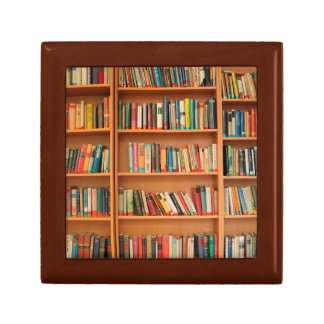 Bookshelf Books Library Bookworm Reading Gift Box