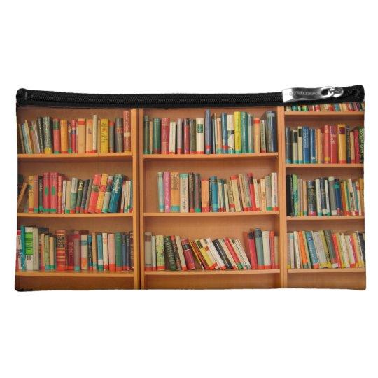 Bookshelf Books Library Bookworm Reading Makeup Bag
