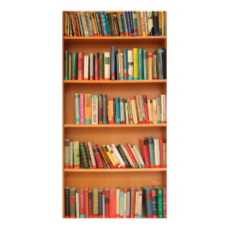 Bookshelf Books Library Bookworm Reading Picture Card