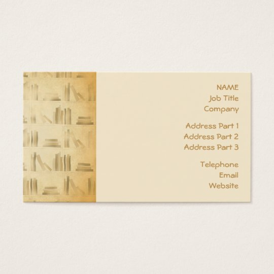 Bookshelf Pattern. Vintage Style Look Background. Business Card