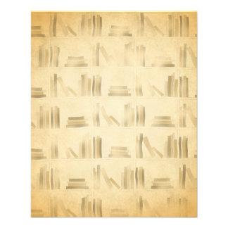 Bookshelf Pattern. Vintage Style Look Background. 11.5 Cm X 14 Cm Flyer
