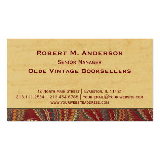 Bookshop, Book Binder Library Elegant Antique Pack Of Standard Business Cards