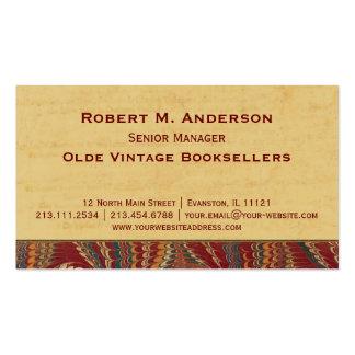 Bookshop, Book Binder Library Elegant Antique Business Cards