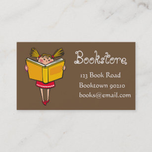 Book shop business cards zazzle uk bookshop kids bookstore or online books business card reheart Image collections