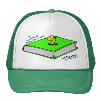 Bookworm 1st Grader - I love School Mesh Hats