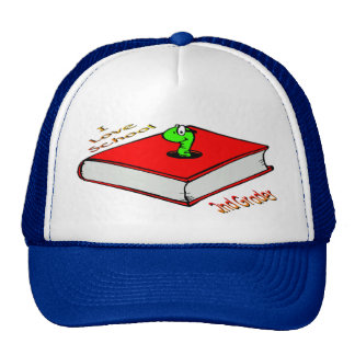 Bookworm 2nd Grader - I love School Cap