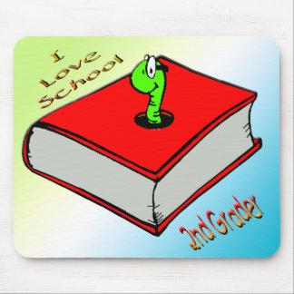 Bookworm 2nd Grader - I love School Mouse Pad