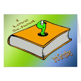 Bookworm 3rd Grader - I love School Greeting Card