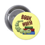 Bookworm 6 Cm Round Badge